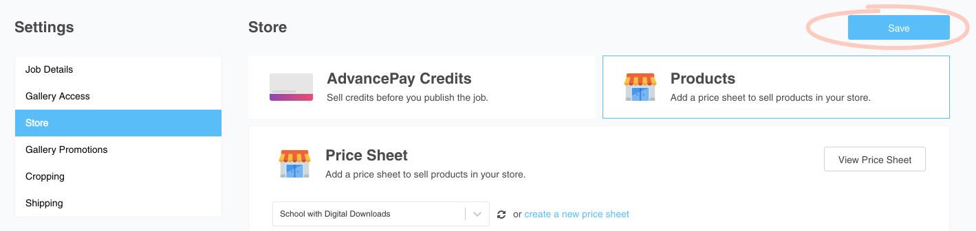 Jobs - Price sheet save